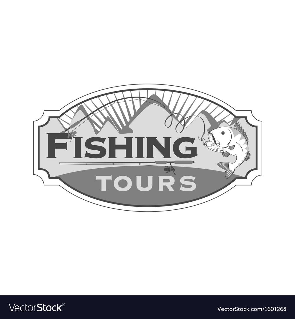 Fishing tours emblem vector | Price: 1 Credit (USD $1)