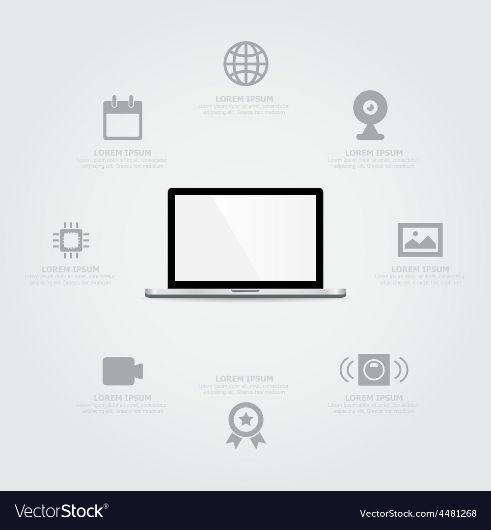 Laptop information vector | Price: 1 Credit (USD $1)