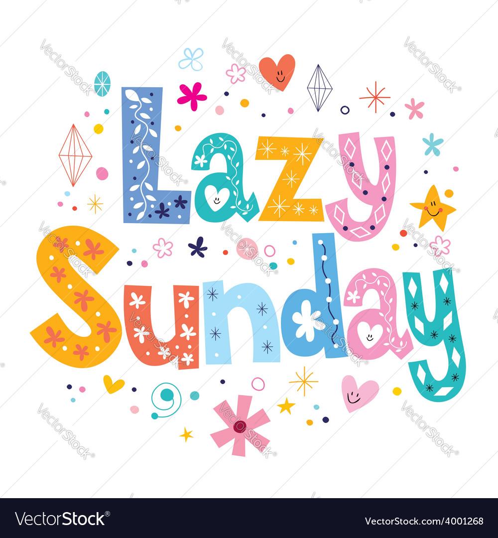 Lazy sunday vector | Price: 1 Credit (USD $1)