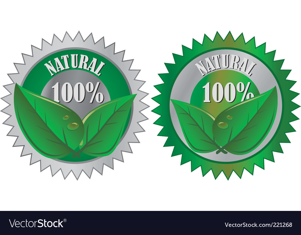 Natural eco product labels vector | Price: 1 Credit (USD $1)