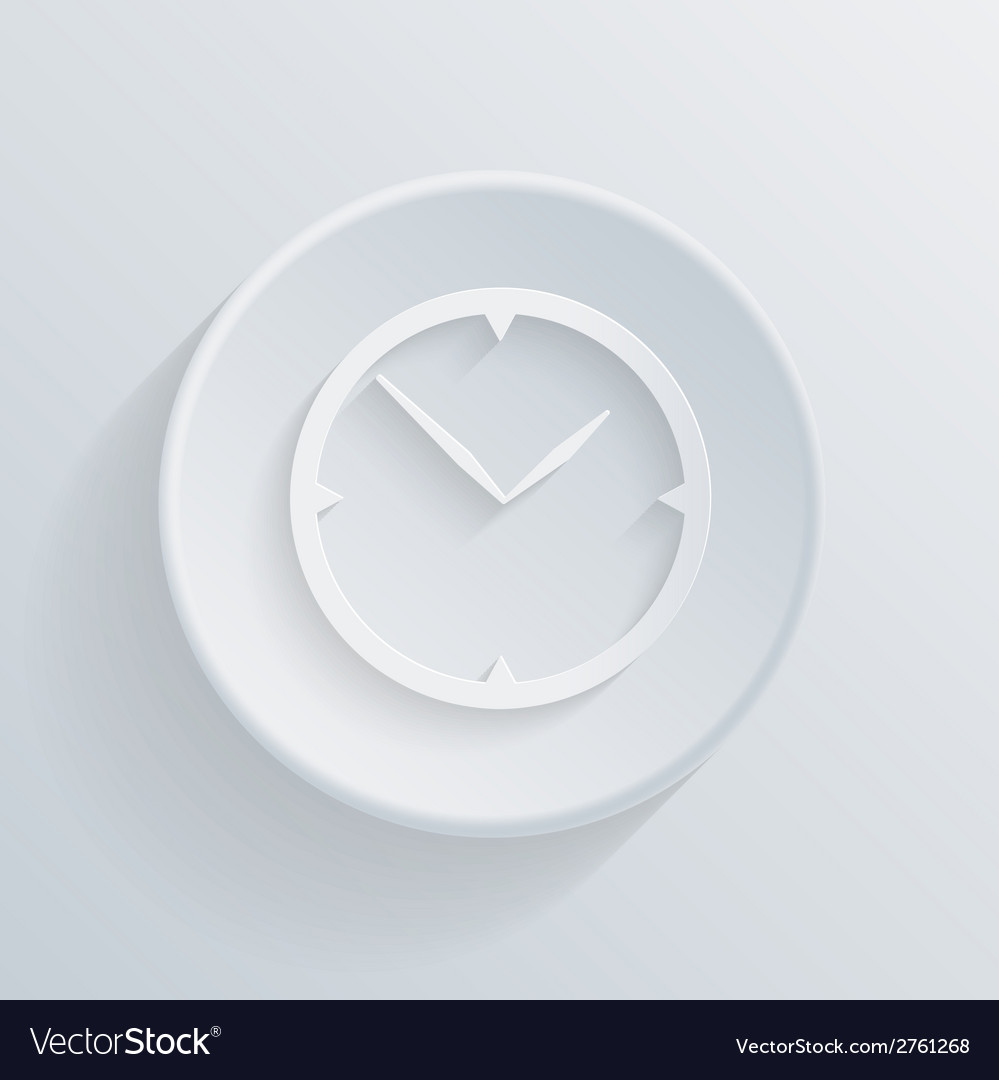 Paper circle flat icon with a shadow clock vector | Price: 1 Credit (USD $1)