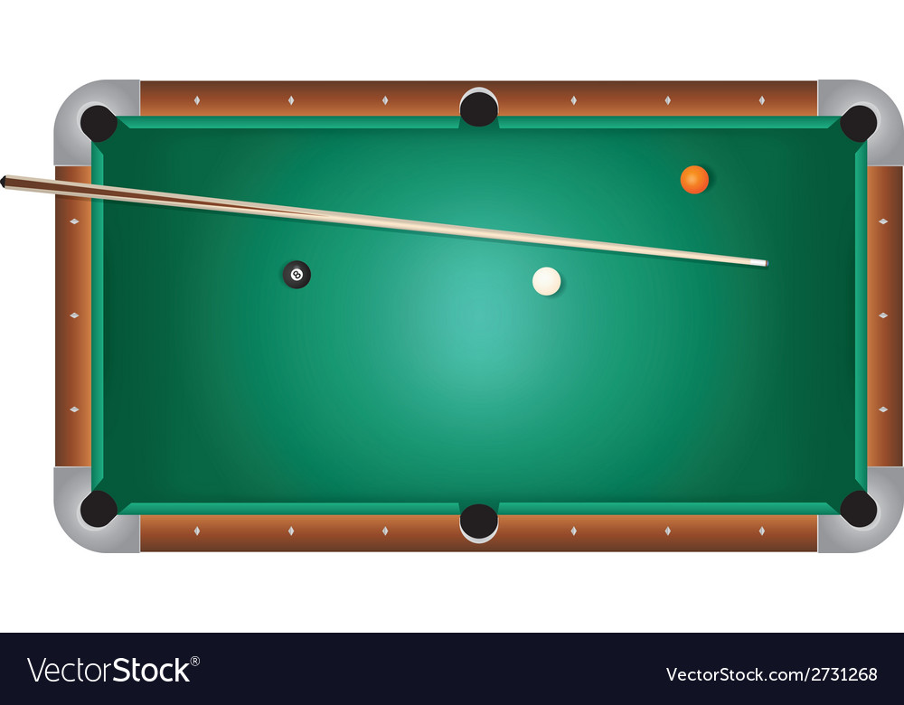 Pool table billiards vector | Price: 1 Credit (USD $1)