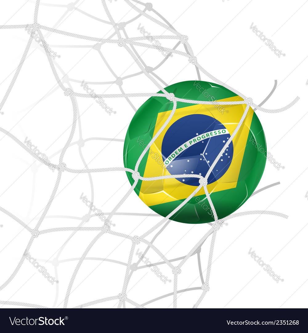 Soccer ball in net vector   Price: 1 Credit (USD $1)