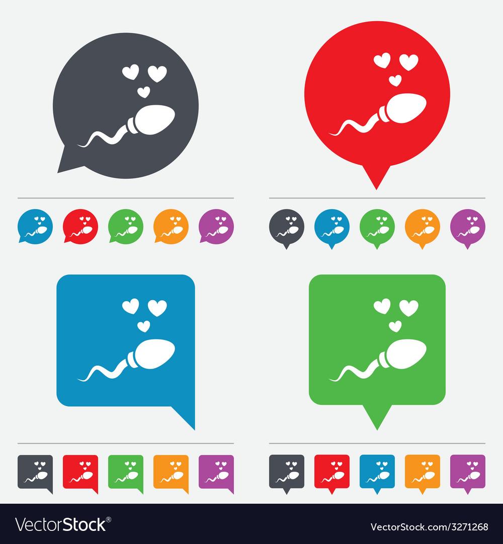 Sperm sign icon fertilization symbol vector | Price: 1 Credit (USD $1)