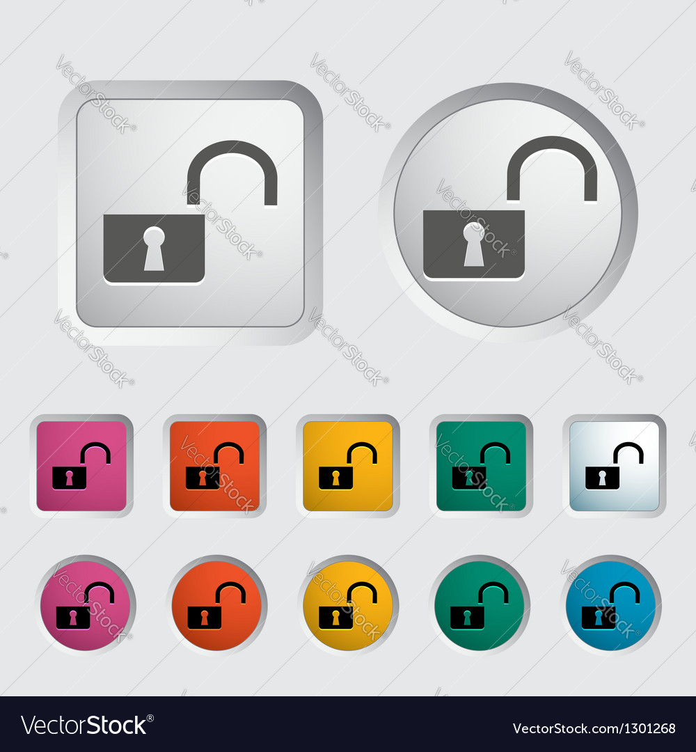 Unlock icon vector | Price: 1 Credit (USD $1)