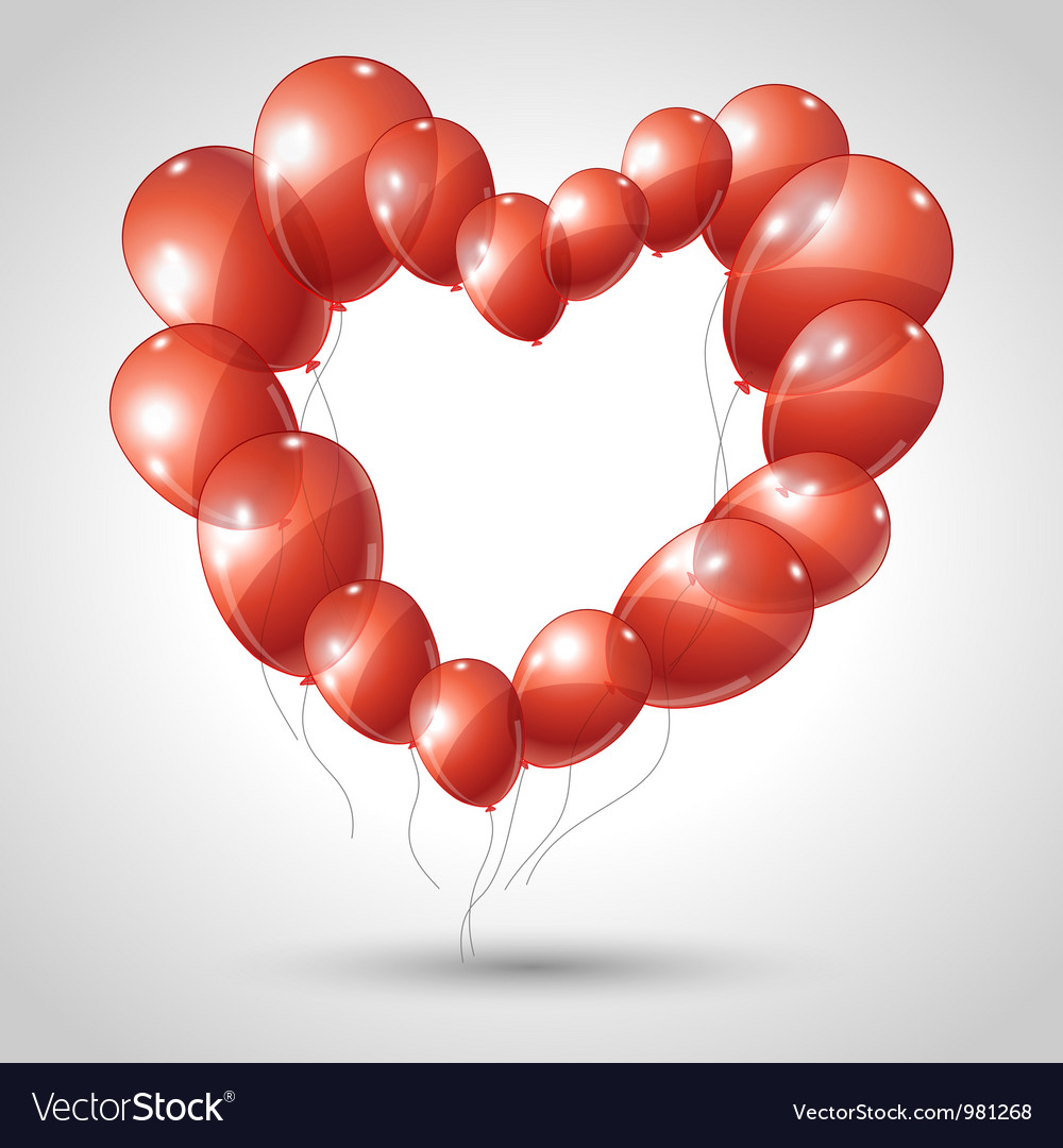 Valentines hearts balloon background vector | Price: 1 Credit (USD $1)