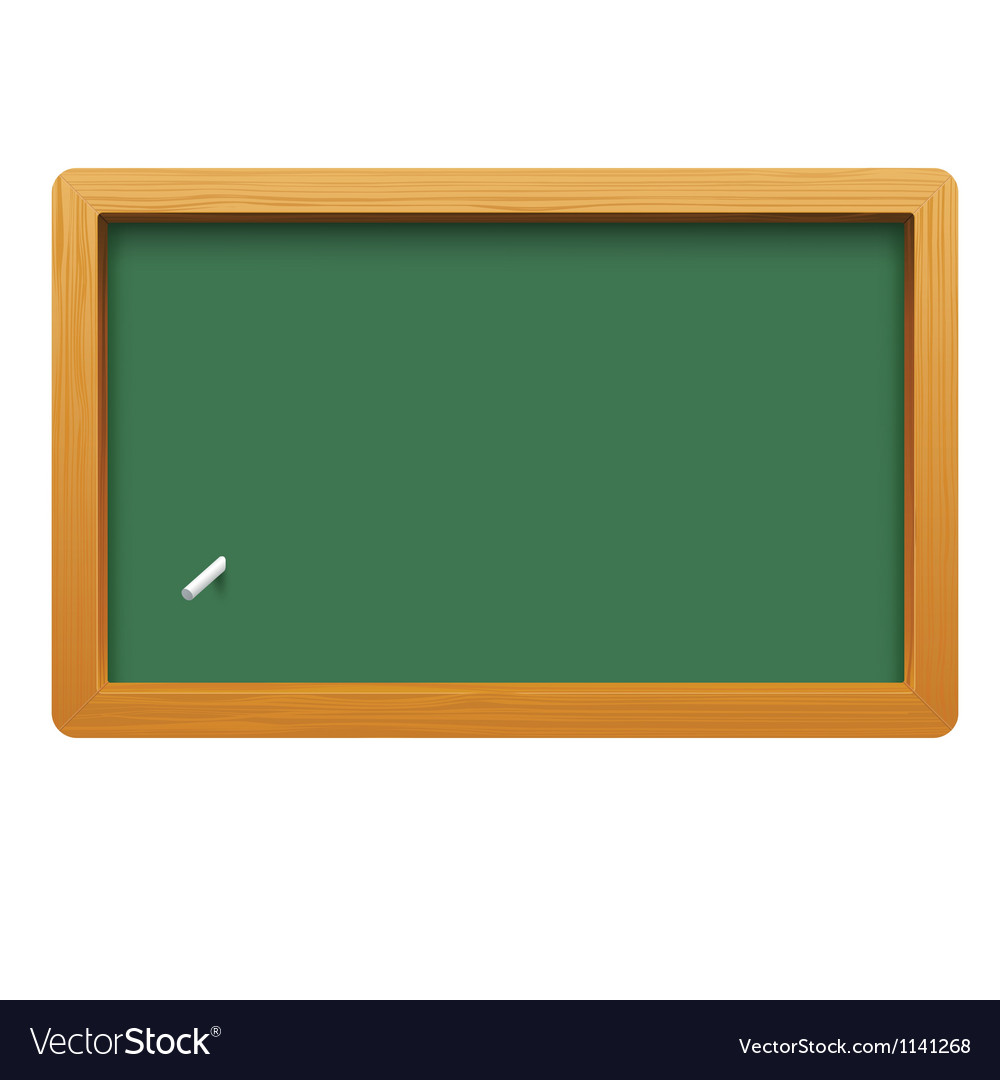 Wooden blackboard isolated on white background vector | Price: 1 Credit (USD $1)