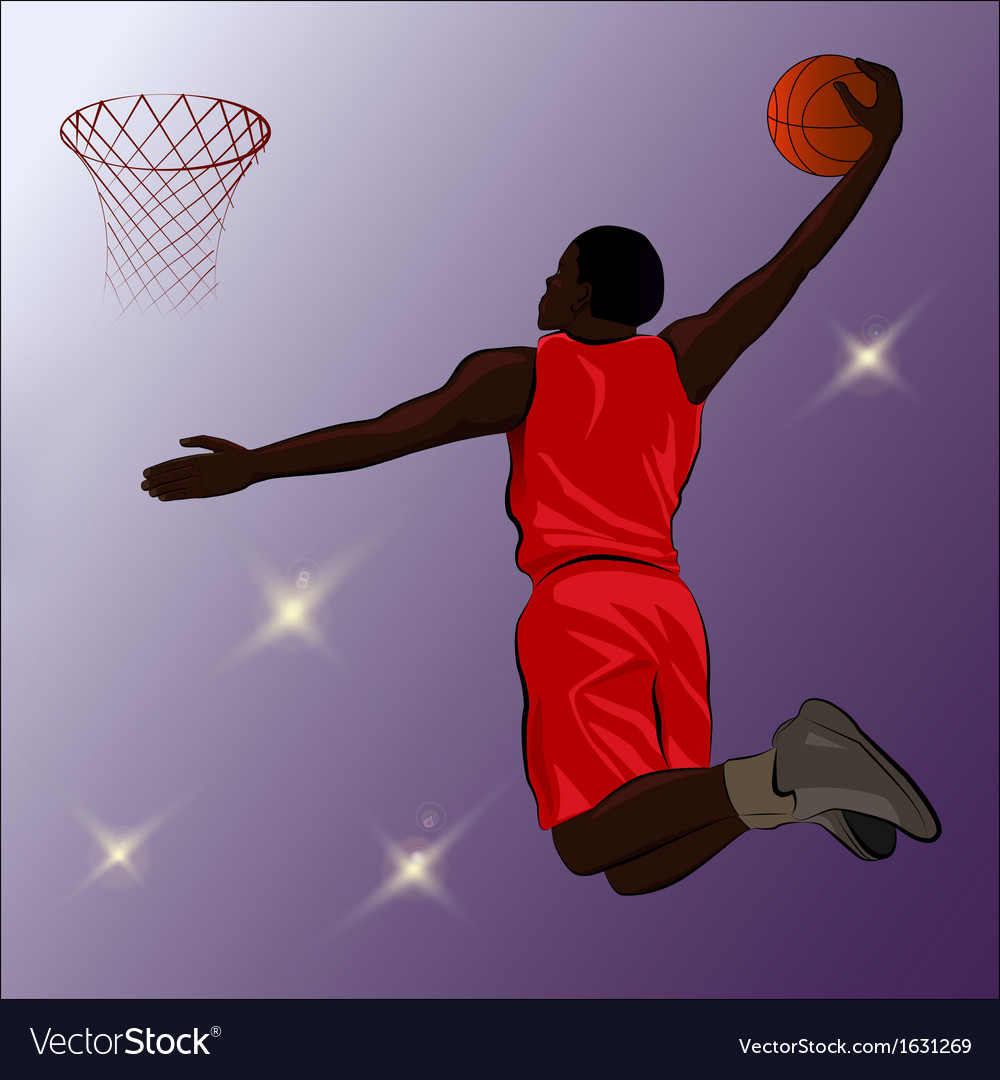 Basketball slam dunk - vector | Price: 1 Credit (USD $1)