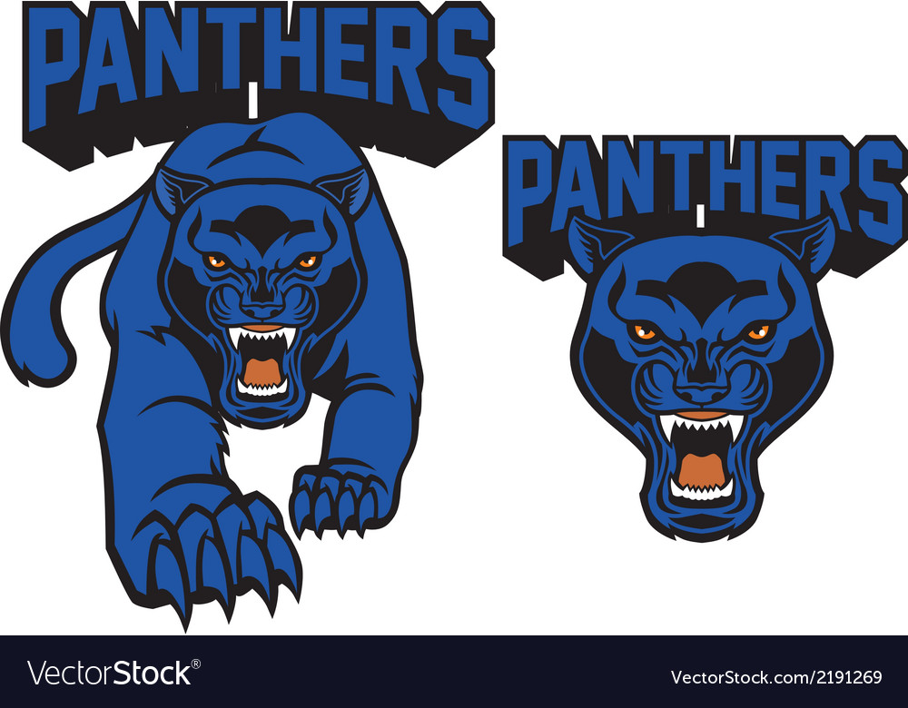 Black panther mascot vector | Price: 3 Credit (USD $3)