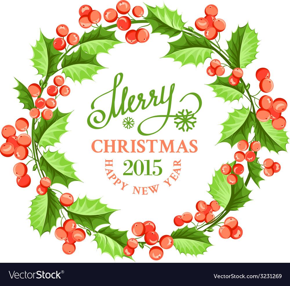 Christmas mistletoe wreath vector | Price: 1 Credit (USD $1)