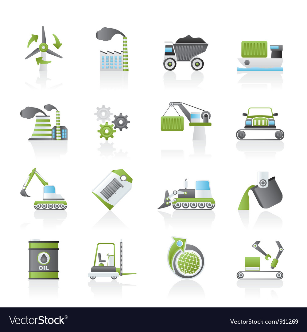 Different kind of business and industry icons vector | Price: 1 Credit (USD $1)