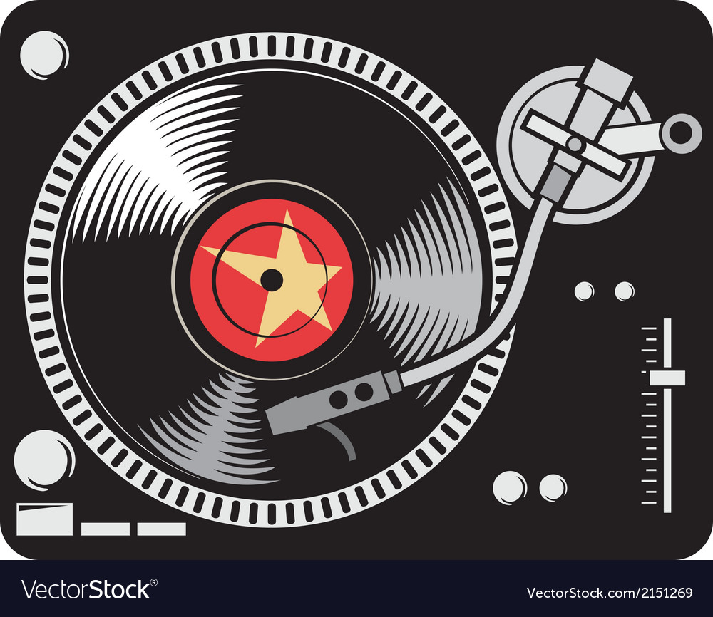 Dj music turntable vector | Price: 1 Credit (USD $1)