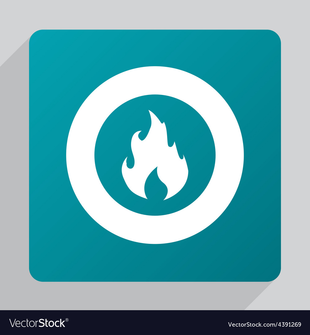 Flat fire icon vector