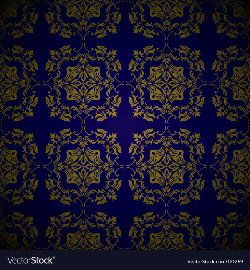 Golden blue link floral vector   Price: 1 Credit (USD $1)