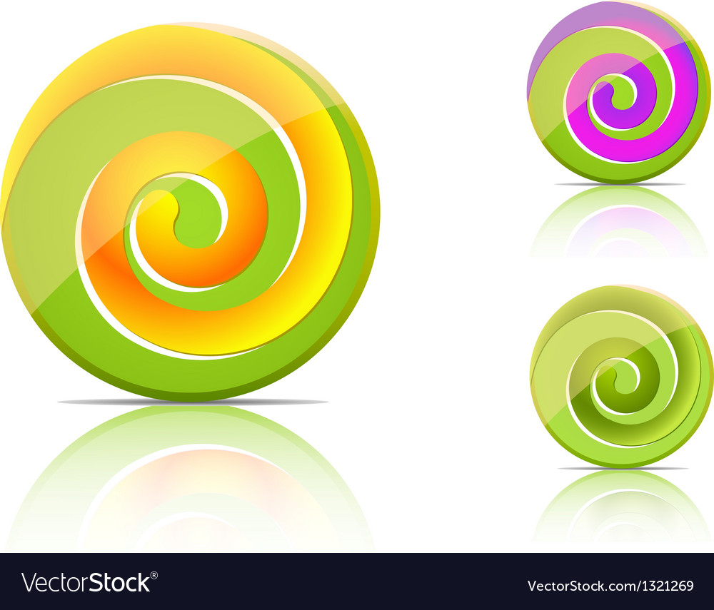 Green candies lollipop set vector | Price: 1 Credit (USD $1)