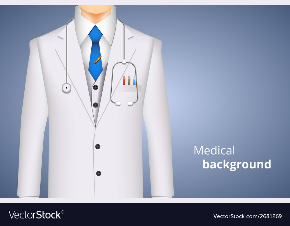 Lab white coat medical background vector | Price: 1 Credit (USD $1)