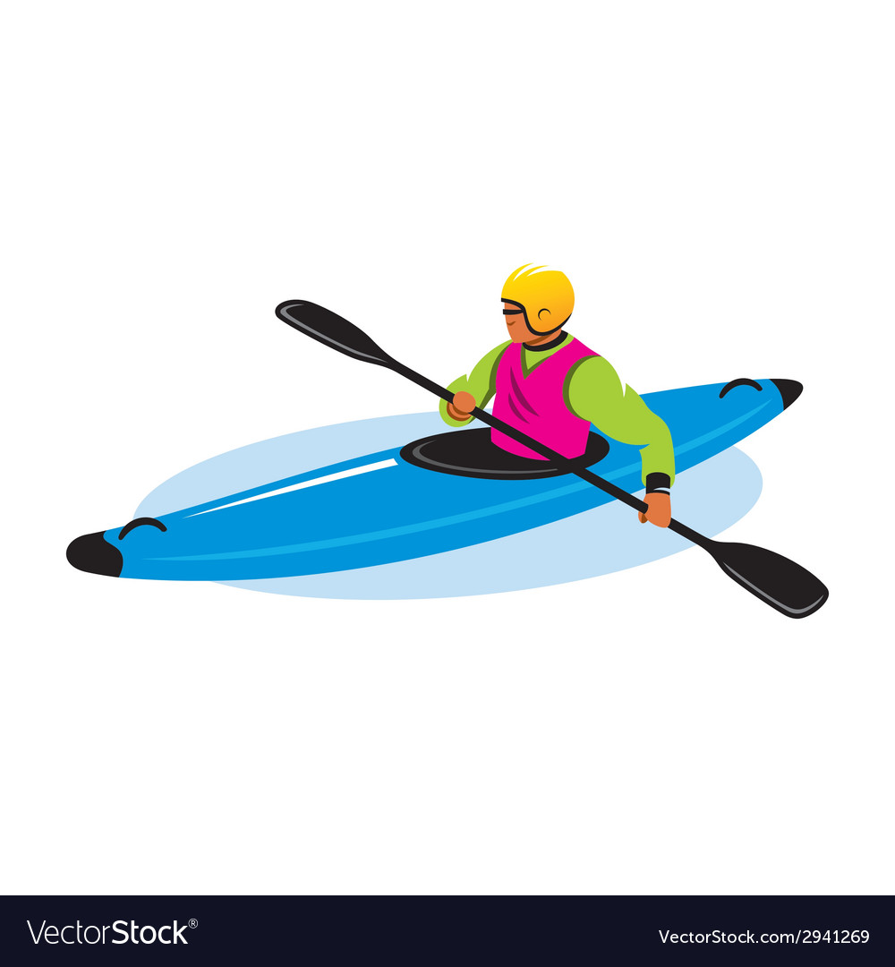 Man in canoe sign vector | Price: 1 Credit (USD $1)