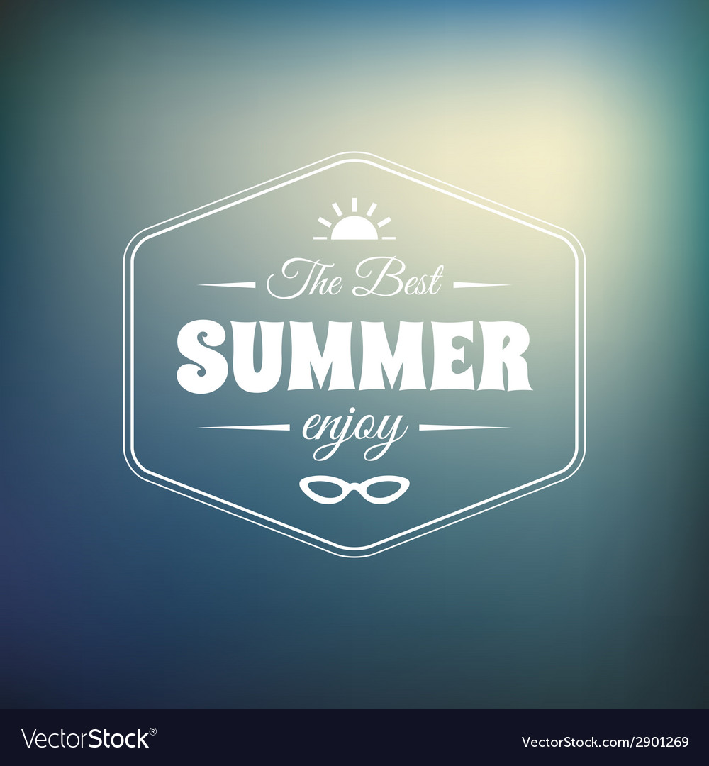 Retro styled summer calligraphic design card vector | Price: 1 Credit (USD $1)