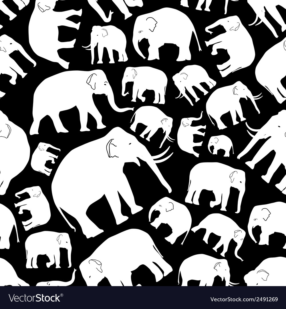 White elephants seamless pattern eps10 vector | Price: 1 Credit (USD $1)