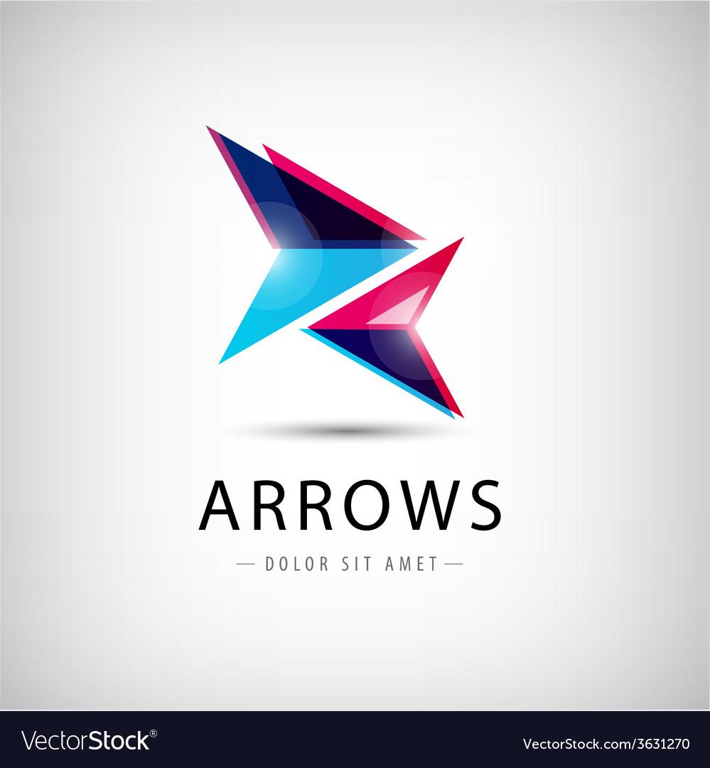 Abstract arrows icon logo vector | Price: 1 Credit (USD $1)