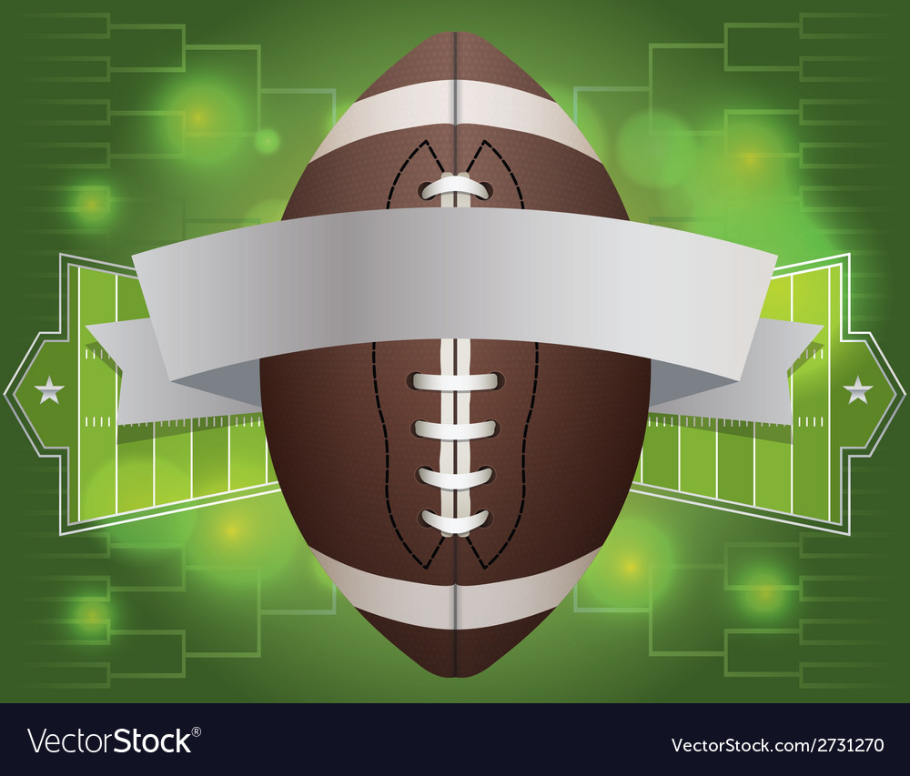 American fotball tournament banner vector | Price: 1 Credit (USD $1)