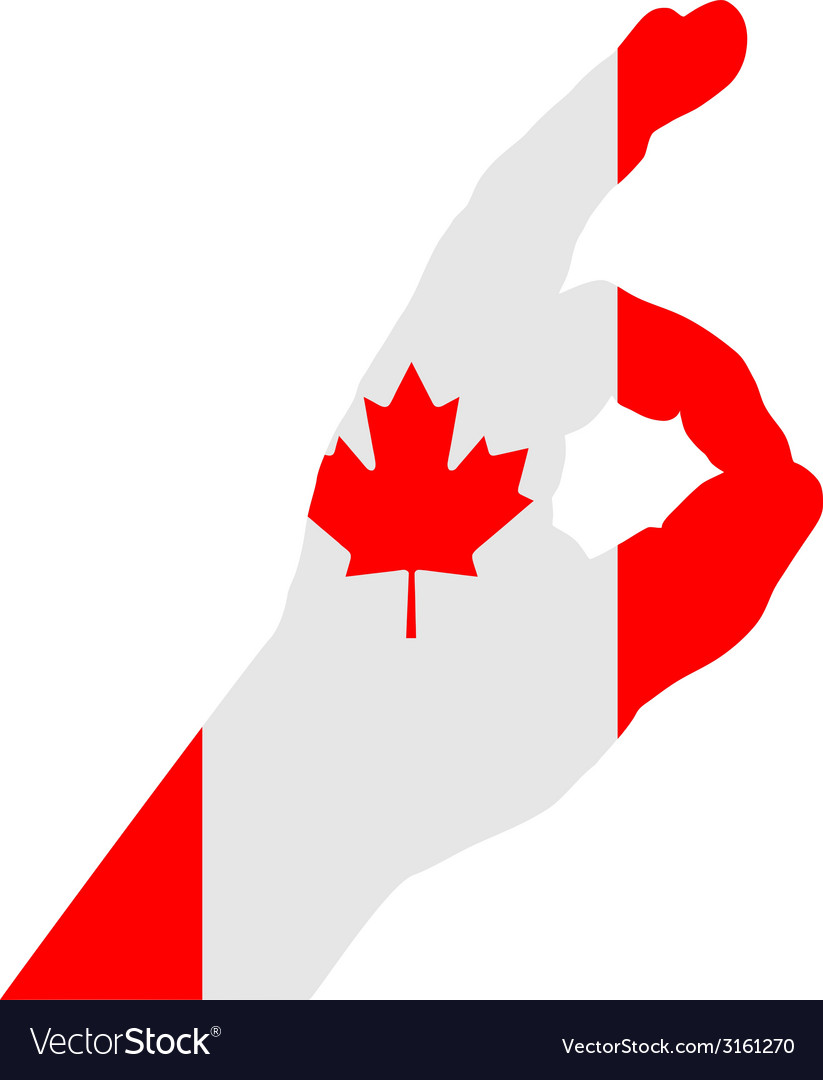 Canadian finger signal vector | Price: 1 Credit (USD $1)