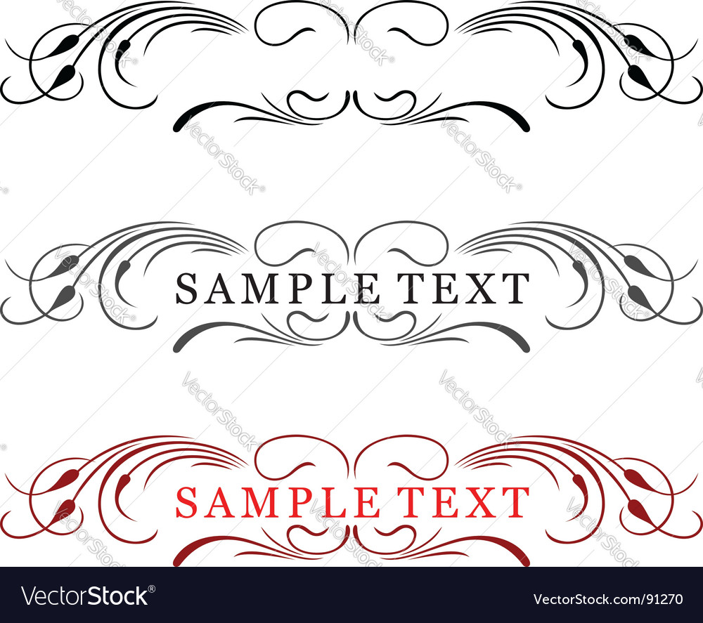 Elegance text frame vector | Price: 1 Credit (USD $1)