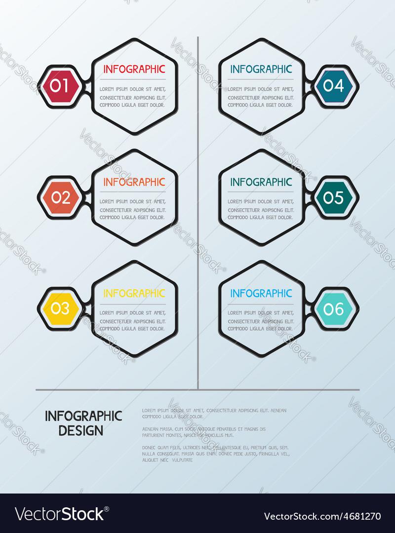 Infographic hexagon template vector | Price: 1 Credit (USD $1)