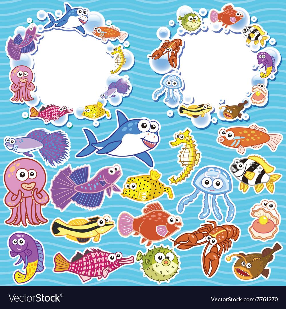 Sea creatures vector | Price: 1 Credit (USD $1)