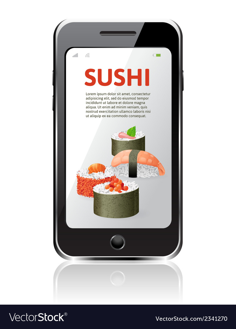 Sushi advertising vector | Price: 1 Credit (USD $1)