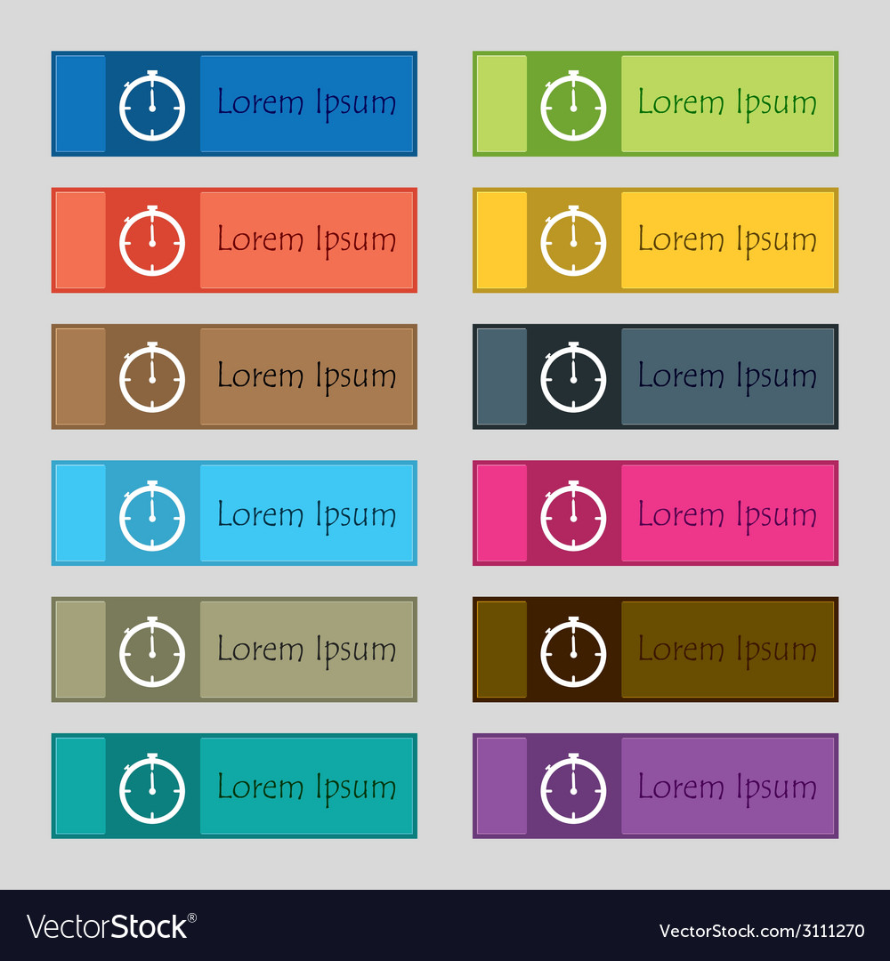 Timer sign icon stopwatch symbol set of colourful vector   Price: 1 Credit (USD $1)