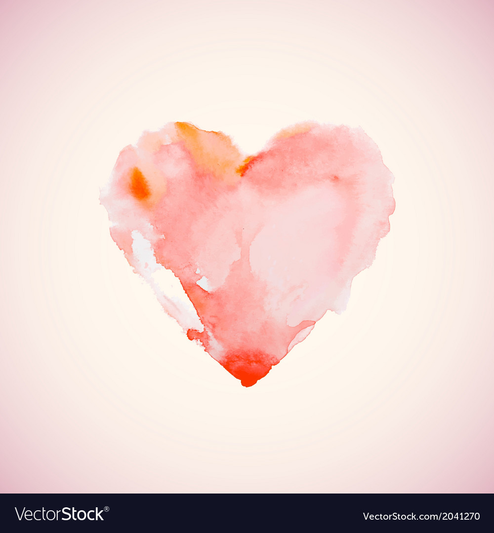 Watercolor heart vector | Price: 1 Credit (USD $1)