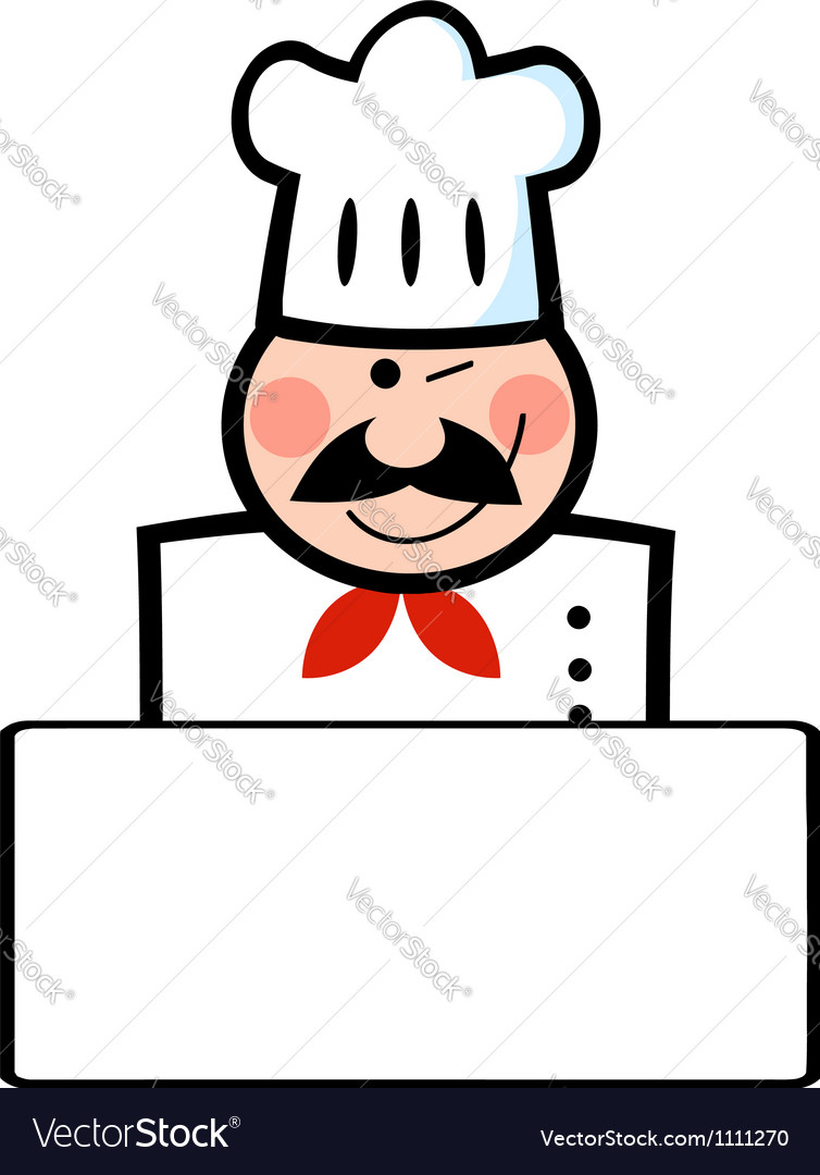 Winking caucasian chef vector | Price: 1 Credit (USD $1)