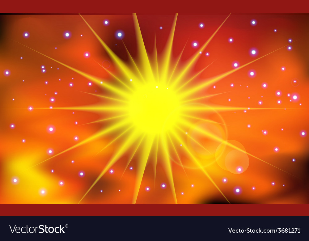 Abstract sun light background vector | Price: 1 Credit (USD $1)