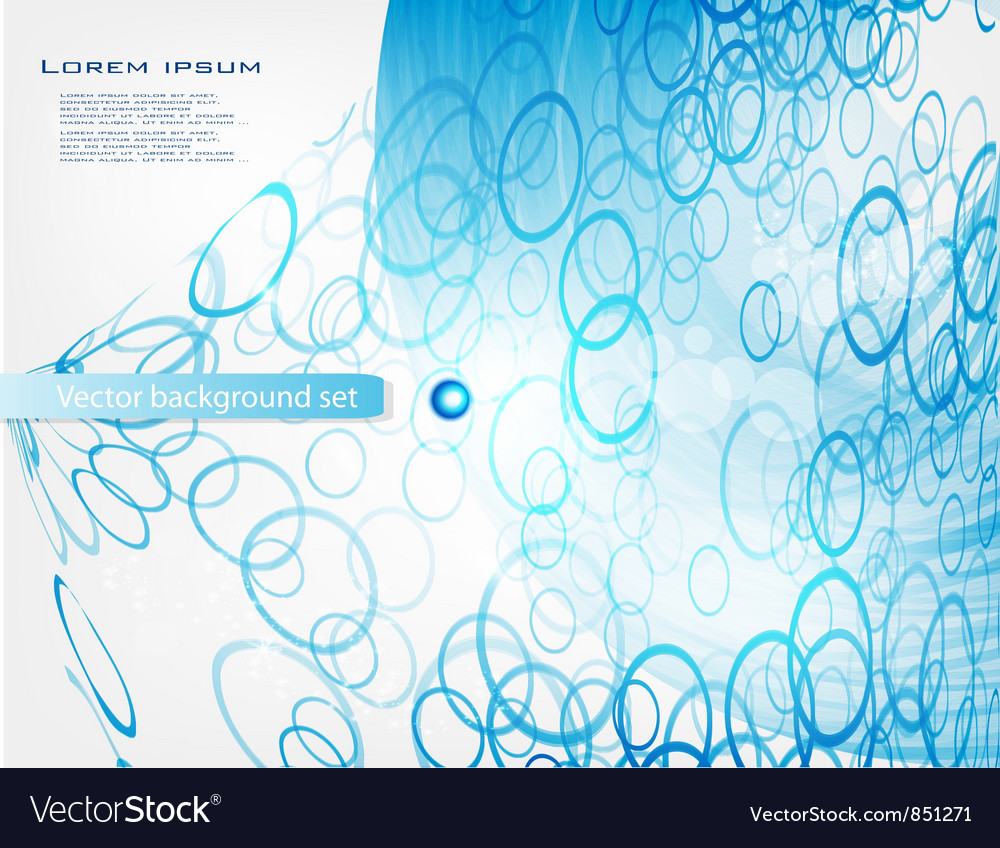 Abstract water and circle blue vector | Price: 1 Credit (USD $1)