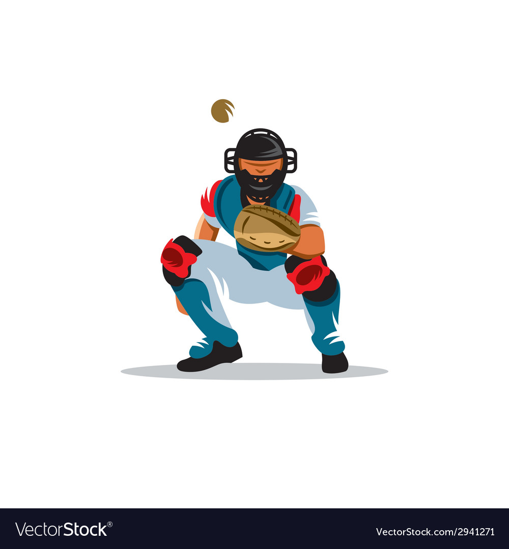 Baseball player sign vector | Price: 1 Credit (USD $1)