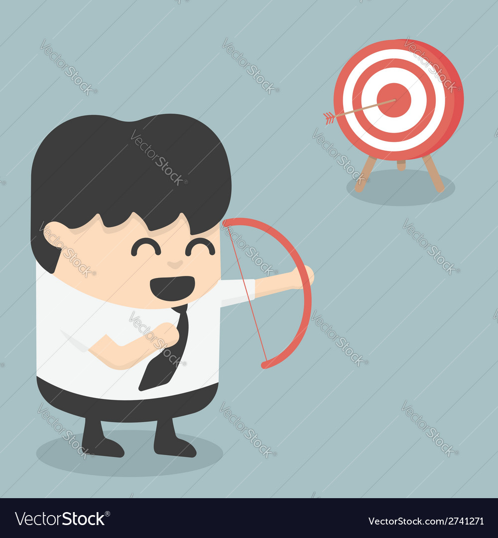 Businessman archer vector | Price: 1 Credit (USD $1)
