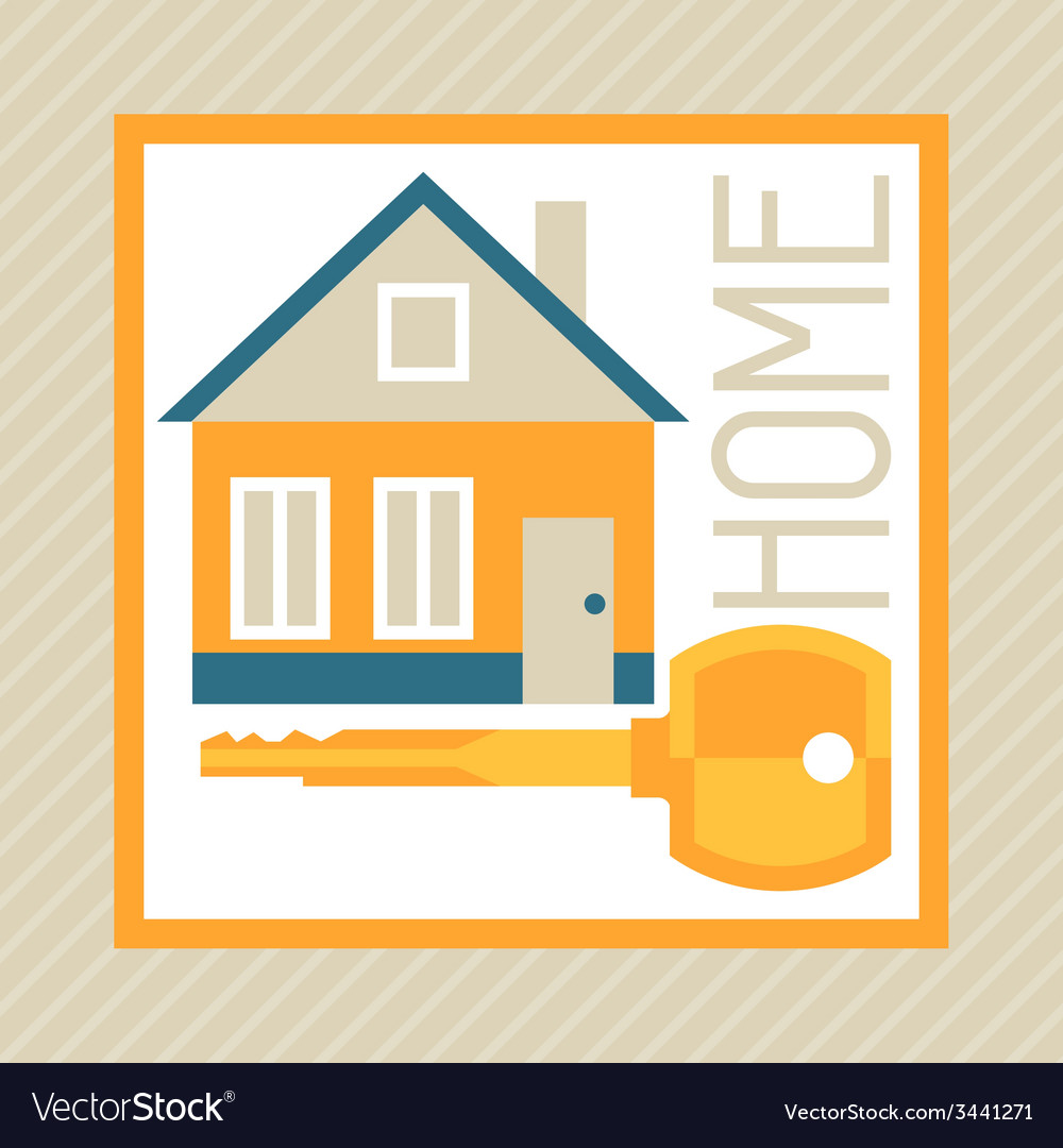 Concept of mortgage in flat design style vector | Price: 1 Credit (USD $1)