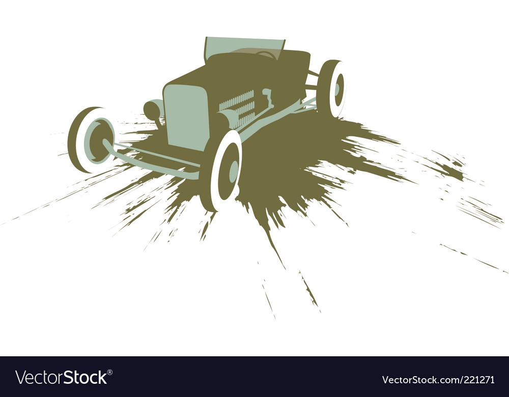 Grunge hot rod vector | Price: 1 Credit (USD $1)