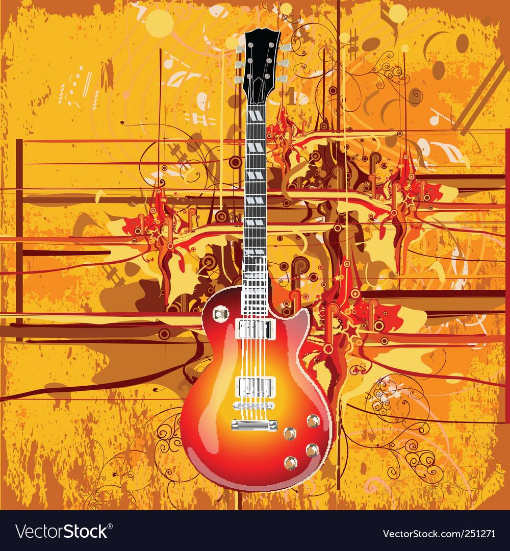 Guitar vector | Price: 3 Credit (USD $3)