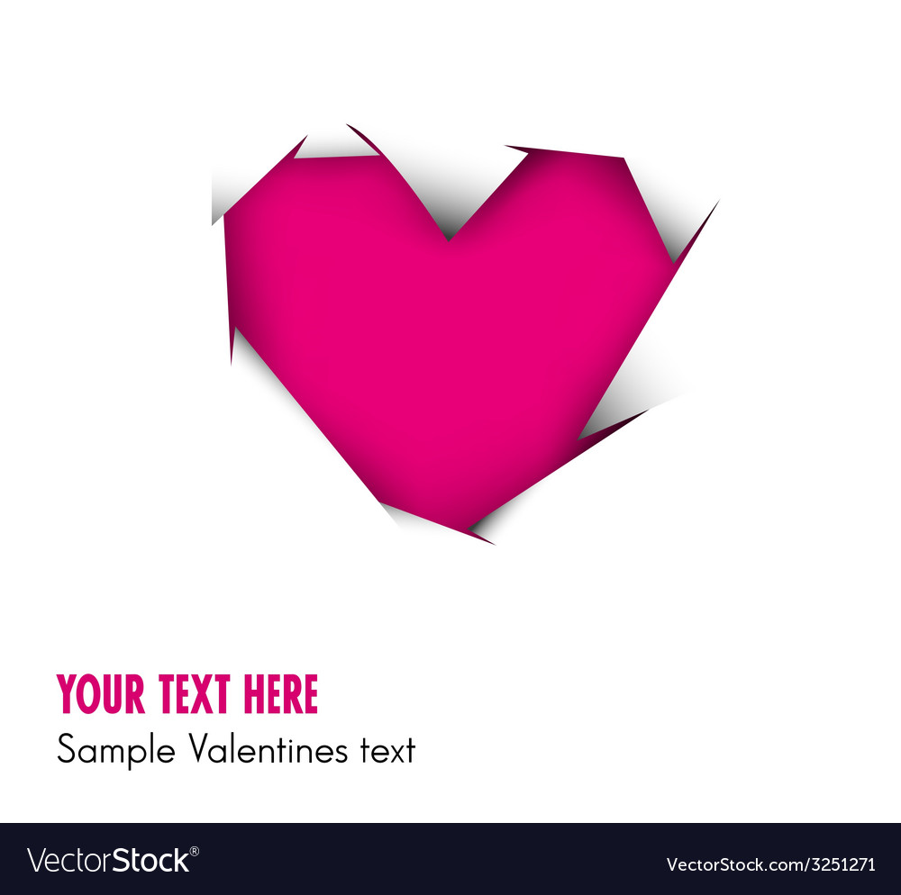 Pink heart cut out of white paper vector | Price: 1 Credit (USD $1)