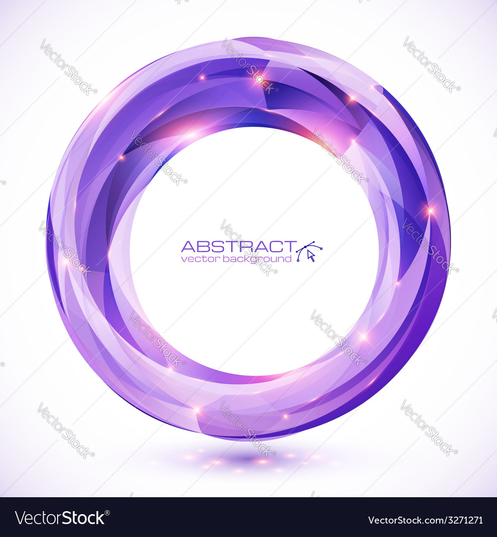 Purple crystal abstract round frame vector | Price: 1 Credit (USD $1)