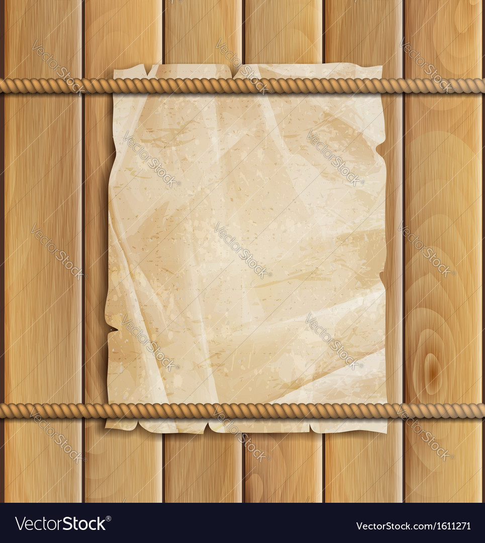 Rope paper and wood background vector | Price: 1 Credit (USD $1)