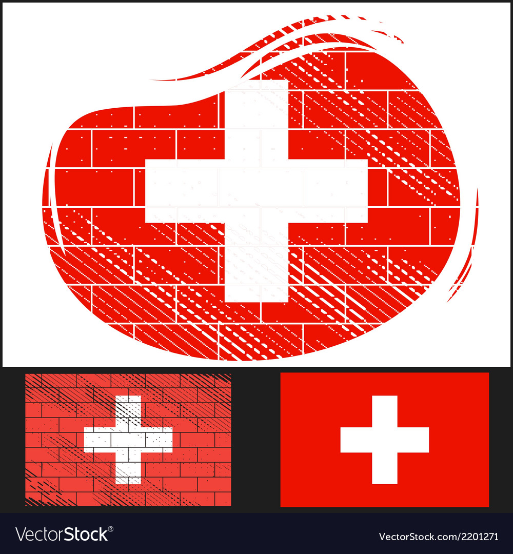 Scratched flag of switzerland vector | Price: 3 Credit (USD $3)