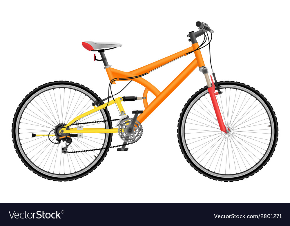 Two suspension mountain bike vector | Price: 1 Credit (USD $1)