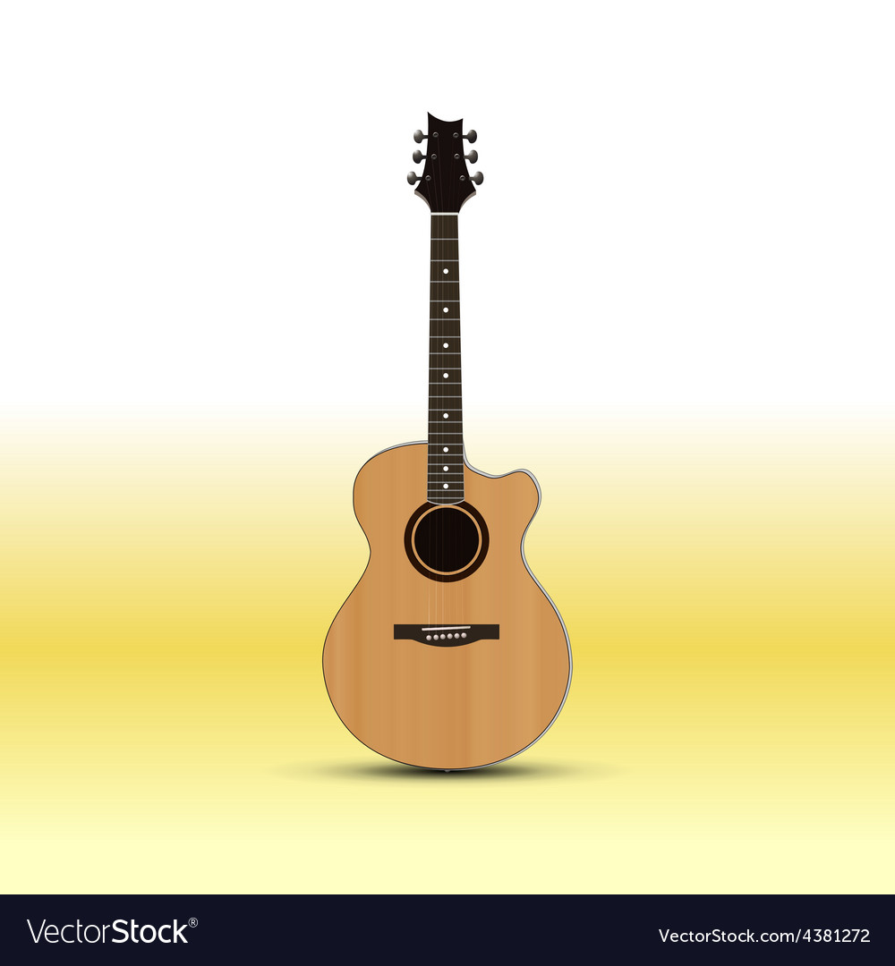 Acoustic guitar isolated on light background vector | Price: 1 Credit (USD $1)