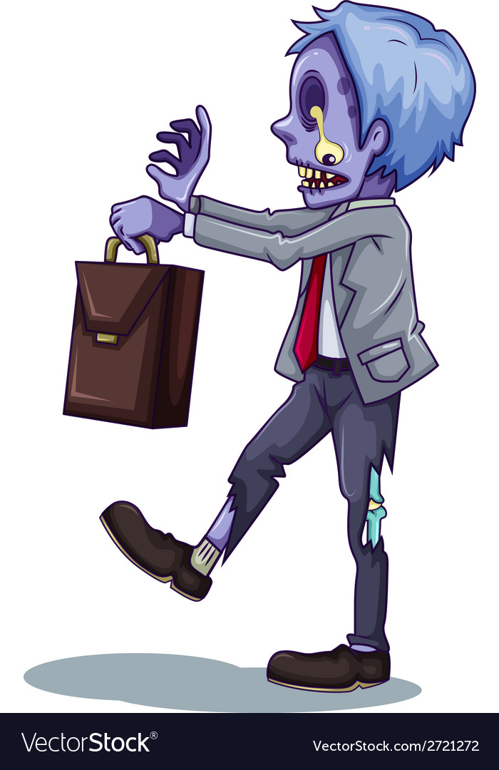 An office worker zombie vector | Price: 1 Credit (USD $1)