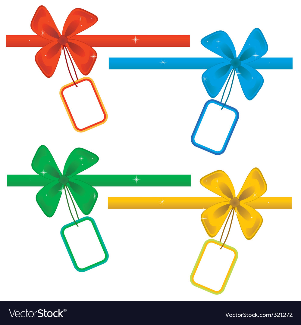 Collection of ribbons with labels vector | Price: 1 Credit (USD $1)