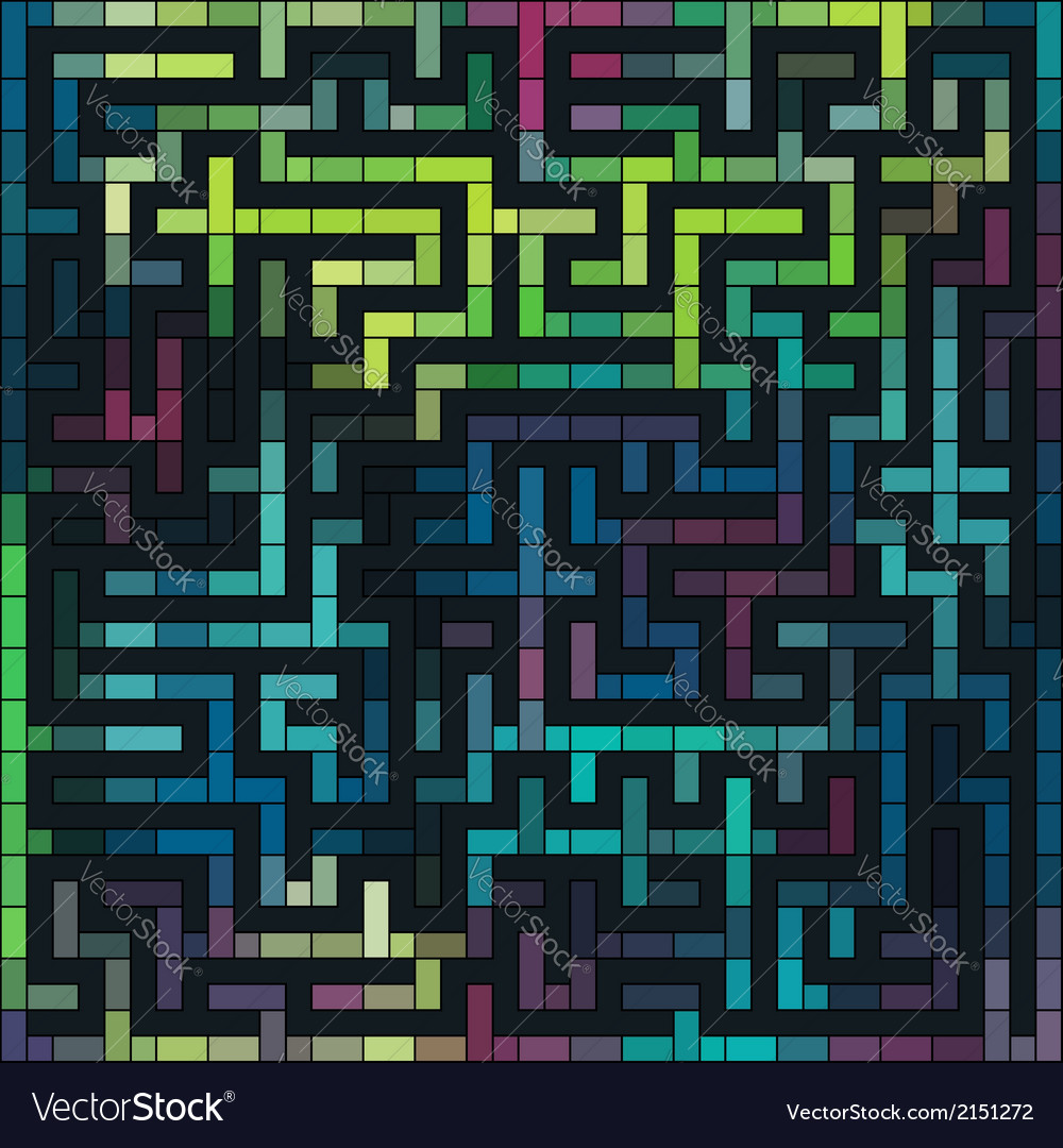 Colorful grunge labyrinth vector | Price: 1 Credit (USD $1)
