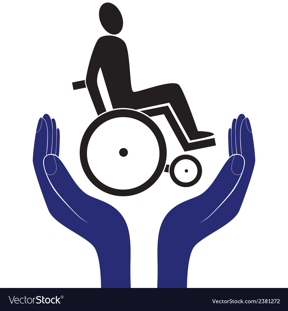 Disabled invalid care sign protection sign vector | Price: 1 Credit (USD $1)
